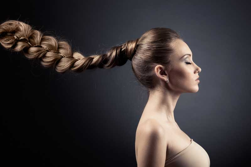 Woman with Plait in Hair